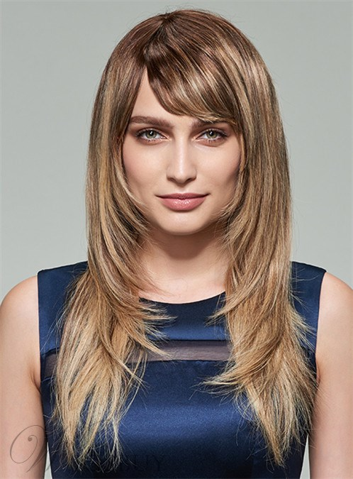 Mishair® Layered Long Straight Capless Human Hair Wig 20 Inches 12253629