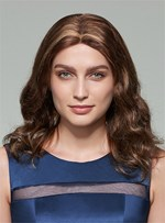 Mishair® Long Wavy Middle Part Lace Front Human Hair Wig 18 Inches