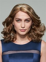 Mishair® Attractive Medium Wavy Lace Front Human Hair Wig 14 Inches