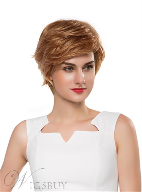 Mishair® New Layered Short Straight Capless Human Hair Wig 10 Inches 12255648