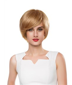 Mishair® Graceful Short Straight Capless Human Hair Wig 10 Inches