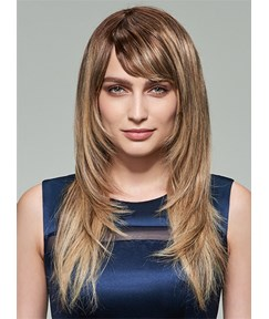 Mishair® Layered Long Straight Capless Human Hair Wig 20 Inches