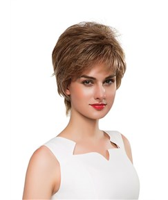 Mishair® Cool Short Straight Capless Human Hair Wig 6 Inches