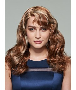 Mishair® Mixed Color Long Wavy Capless Human Hair Wig 20 Inches