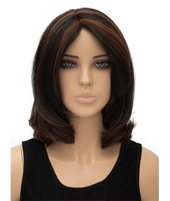 Medium Bottom Wave Capless Synthetic Hair Wig 12 Inches