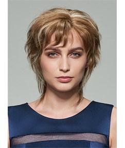 Mishair® New Fluffy Short Wavy Capless Human Hair Wig 10 Inches