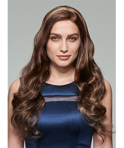 Mishair® Charming Long Wavy Lace Front Human Hair Wig 22 Inches