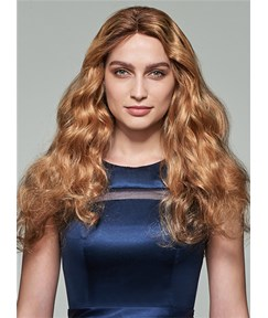 Mishair® Long Wavy Lace Front Human Hair Wig 22 Inches
