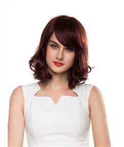 Mishair® Pretty Medium Bottom Wave Capless Human Hair Wig 14 Inches