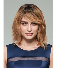 Mishair® Pretty Medium Wavy Capless Human Hair Wig 12 Inches