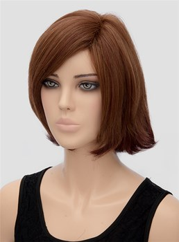 Bottom Wavy Medium Capless Synthetic Hair Wig 12 Inches