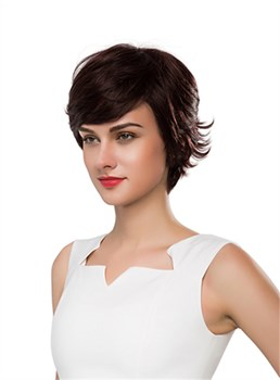 Mishair® Cute Short Wavy Capless Human Hair Wig 10 Inches