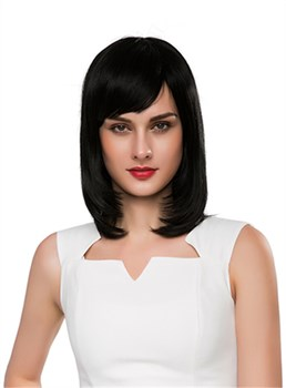 Mishair® Elegant Medium Straight Capless Human Hair Wig 14 Inches