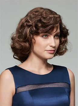 Mishair? Lovely Medium Curly Capless Human Hair Wig 12 Inches