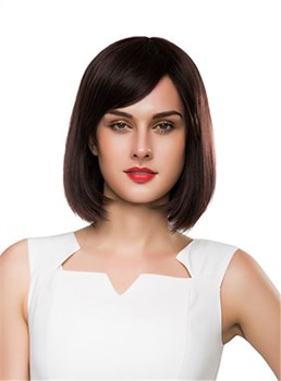 Mishair® Sweety Medium Straight Capless Human Hair Wig 14 Inches