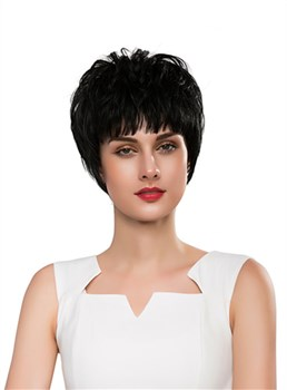 Mishair® Unique Short Straight Capless Human Hair Wig 10 Inches
