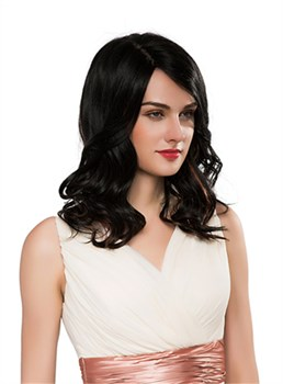 Mishair® Graceful Long Wavy Capless Human Hair Wig 18 Inches