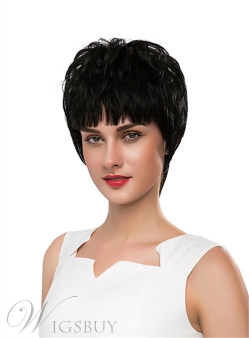 Mishair® Unique Short Straight Capless Human Hair Wig 10 Inches 12255647