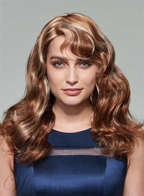 Mishair? Mixed Color Long Wavy Capless Human Hair Wig 20 Inches 12253607