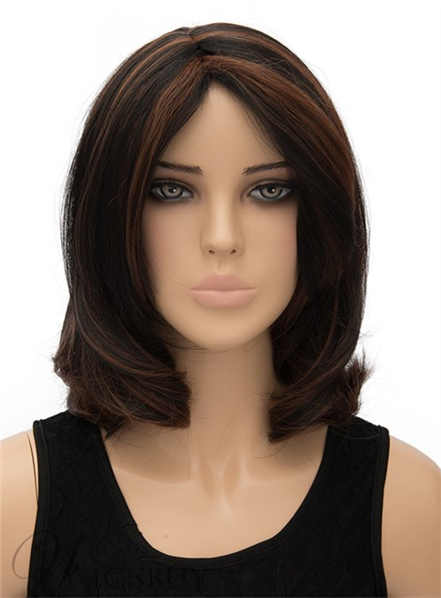 Medium Bottom Wave Capless Synthetic Hair Wig 12 Inches 12269795