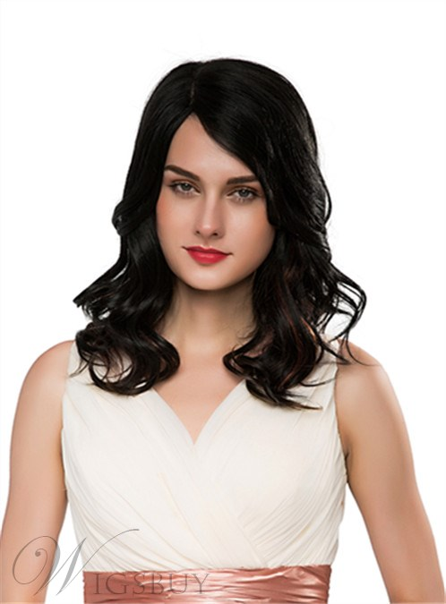 Mishair® Graceful Long Wavy Capless Human Hair Wig 18 Inches 12255649