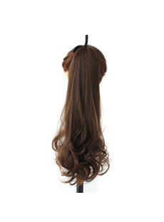 Long Wave Lace-up Synthetic Ponytail