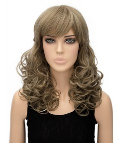 Charming Long Wavy Capless Synthetic Hair Wig 20 Inches