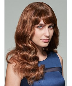 Mishair® Big Wave Long 100% Human Hair Capless Wig 18 Inches