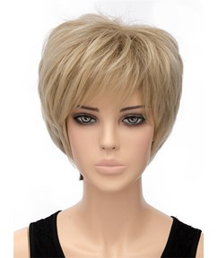 Fluffy Short Straight Capless Synthetic Hair Wig 8 Inches