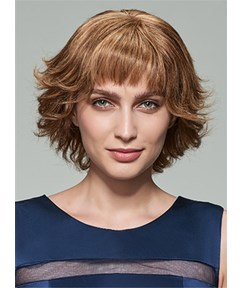 Mishair® Medium Loose Wave Capless Human Hair Wig 12 Inches