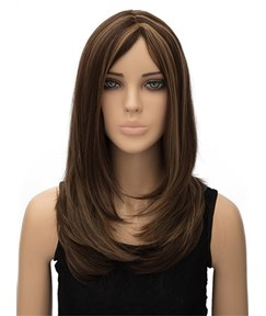 Best Selling Layered Long Straight Capless Synthetic Hair Wig 20 Inches