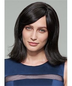 Mishair® Medium Straight Capless Human Hair Wig 14 Inches