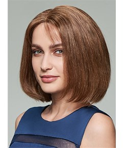 Mishair® Charming High Quality Human Hair Wigs Lace Front Cap 12 Inches