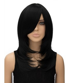 New Arrival Long Straight Capless Synthetic Hair Wig 18 Inches