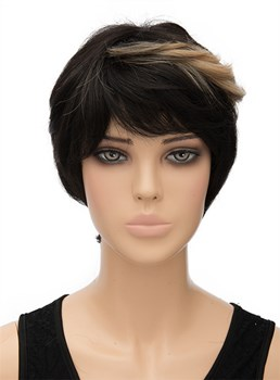 Unique Short Straight Capless Synthetic Hair Wig 8 Inches