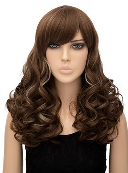 Attractive Mixed Color Long Wavy Capless Synthetic Hair Wig 20 Inches