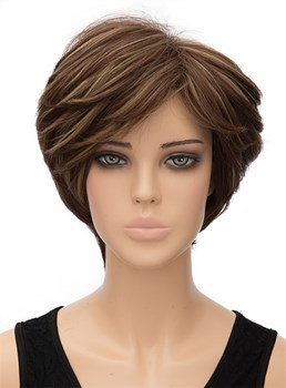 Charming Short Straight Capless Synthetic Hair Wig 8 Inches