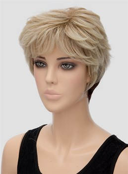 Unique Fluffy Short Wavy Capless Synthetic Hair Wig 8 Inches