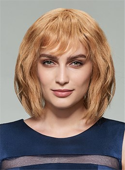 Mishair® Medium Natural Wave Human Hair Capless 12 Inches Wig