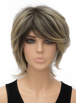 Fluffy Medium Straight Capless Synthetic Hair Wig 12 Inches
