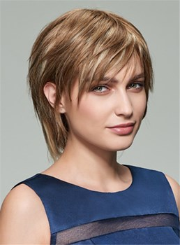 Mishair® Short Straight Capless Human Hair Wig 8 Inches