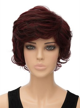 Fluffy Short Wavy Capless Synthetic Hair Wig 10 Inches