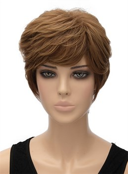 Elegant Short Wavy Capless Synthetic Hair Wig 8 Inches
