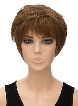Cute Layered Short Straight Capless Synthetic Hair Wig 8 Inches