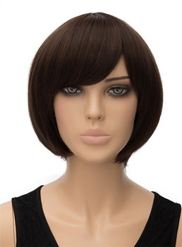 Cute Short Straight Capless Synthetic Hair Wig 10 Inches