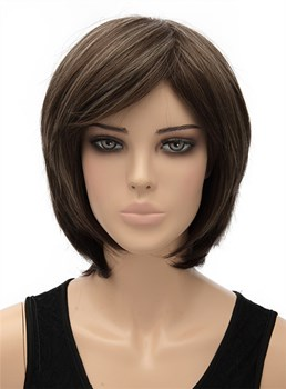 Hot Sale Medium Straight Capless Synthetic Hair Wig 12 Inches