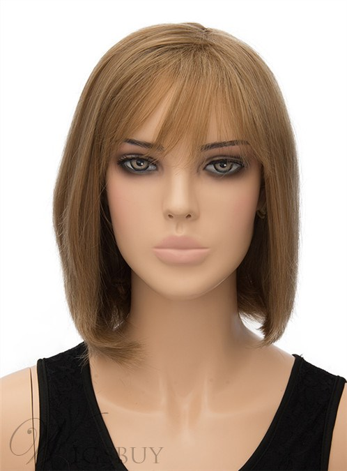 Elegant Medium Straight Capless Synthetic Hair Wig 12 Inches 12402944