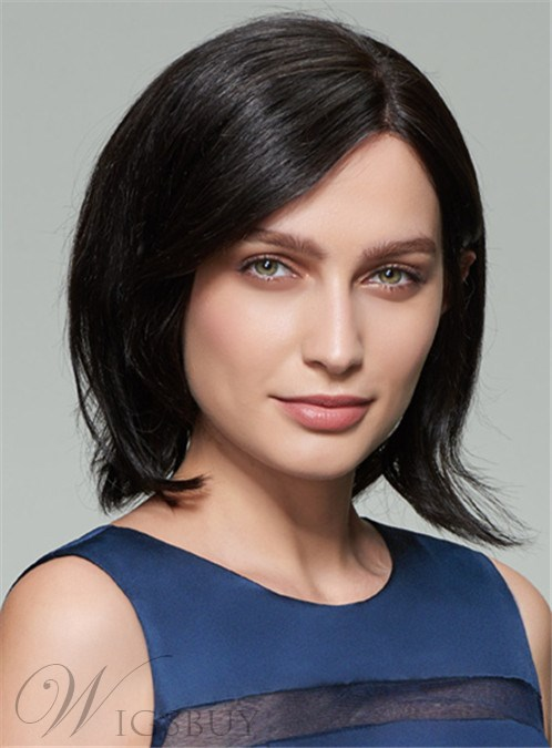 Mishair? Medium Straight Capless Bob Human Hair Wig 12 Inches 12404500
