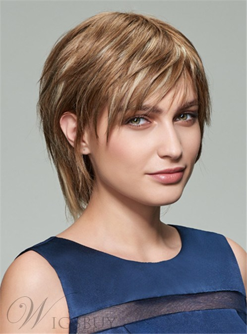 Mishair? Short Straight Capless Human Hair Wig 8 Inches 12408590