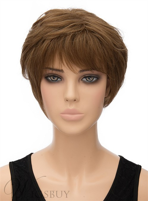 Cute Layered Short Straight Capless Synthetic Hair Wig 8 Inches 12402942